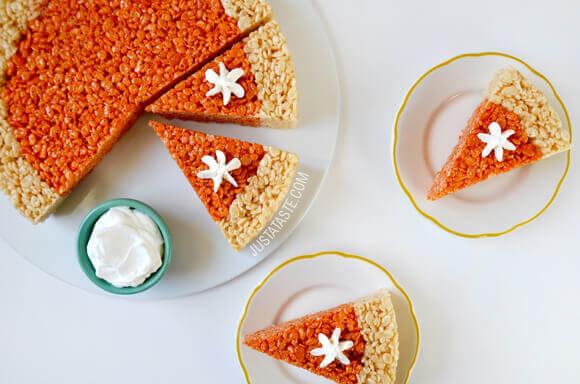 Pumpkin Rice Krispies Treats Recipe Just A Taste