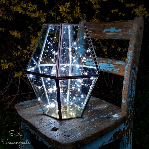 Upcycled Light Fixture To Lighted Metalwork Hurricane Sadie Seasongoods