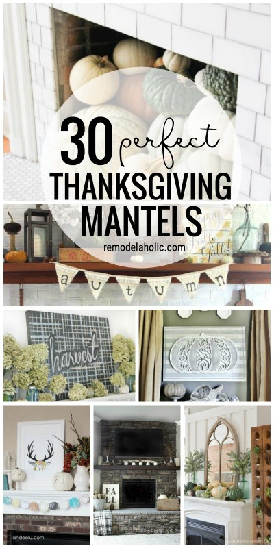 30 30 Perfect Thanksgiving Mantels Featured On Remodelaholic Com