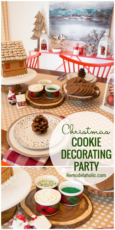 A Fun Way To Celebrate The Holidays With A Christmas Cookie Decorating Party. Get All The Tips And Tricks At Remodelaholic.com