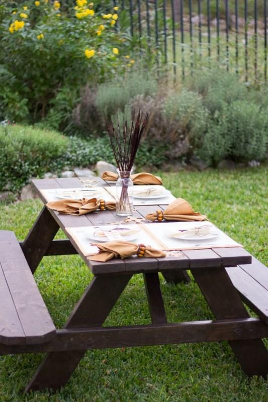 Simple Thanksgiving Table Setting Design Improvised