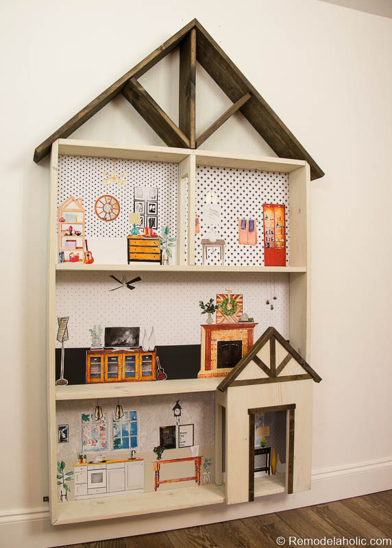 Remodelaholic Diy Dollhouse Tutorial Free Printable Dollhouse