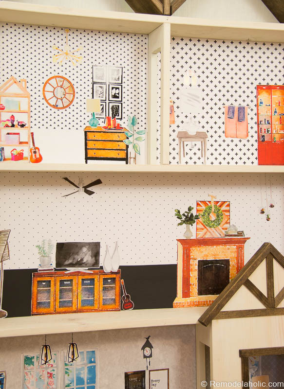 Dollhouse With Building Plan And Free Printables 13