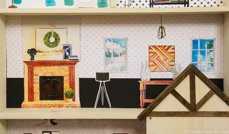 graphic regarding Printable Dollhouse referred to as Remodelaholic Do-it-yourself Dollhouse Guideline + No cost Printable