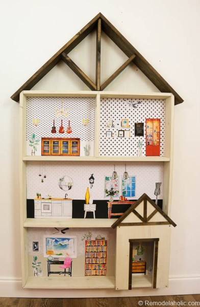 Dollhouse With Building Plan And Free Printables 28
