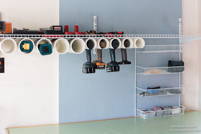Remodelaholic Quick And Easy Diy Power Tool Organizer