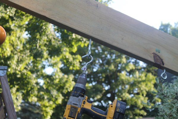 10 Build Your Own Ninja Course With Cannonballs, How To Install Eyebolts, By Girl Meets Carpenter Featured On @Remodelaholic