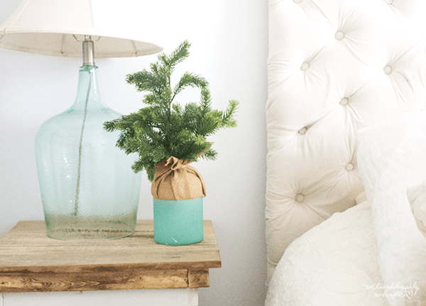 18 Fresh Mini Christmas Tree For Master Bedroom Decor, By We Lived Happily Ever After Featured On @Remodelaholic