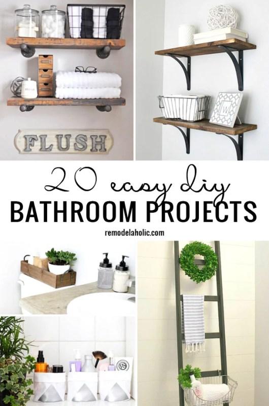 20 Easy DIY Bathroom Projects