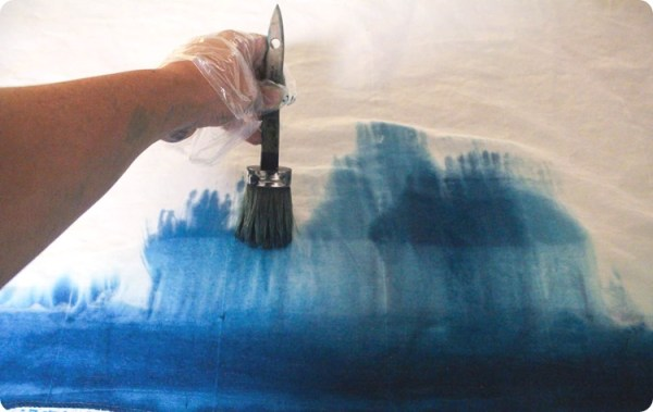 3 DIY Ombre Curtains Using A Paintbrush And Water Instead Of Dipping By Lovely Etc Featured On @Remodelaholic