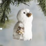 Gray Natural Penguin Ornament