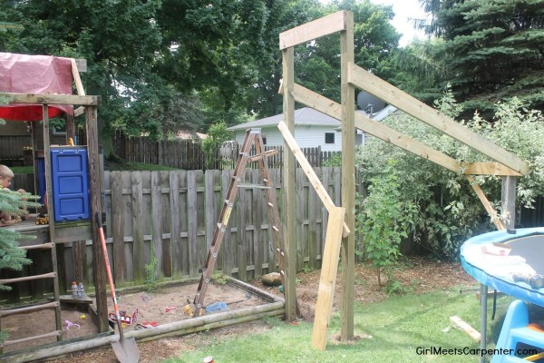 5 Build A Ninja Course In Your Backyard Using Your Existing Swing Set By Girl Meets Carpenter Featured On @Remodelaholic