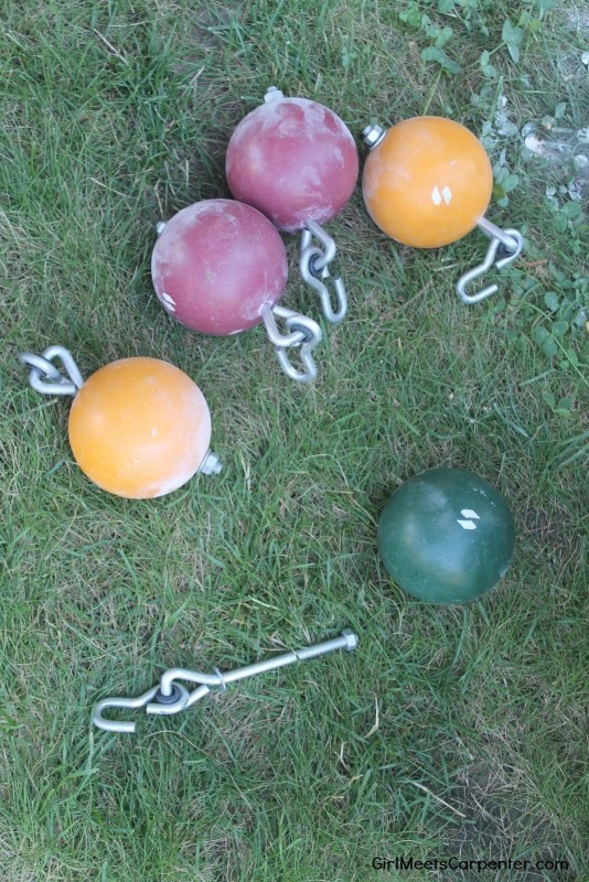 8 DIY An American Ninja Warrior Course With Homemade Cannonballs Our Of Bocce Balls By Girl Meets Carpenter Featured On @Remodelaholic