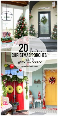 Add Some Holiday To The Entry Of Your Home With One Of These 20 Festive Christmas Porches You'll Love Featured On Remodelaholic.com