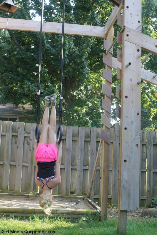DIY Ninja Obstacle Course With Adjustable Rings, By Girl Meets Carpenter Featured On @Remodelaholic