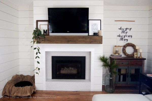 Fireplace And Mantle Makeover The Learner Observer For Remodelaholic 5