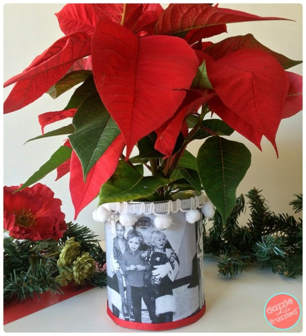 Holiday Photo Tin Can Vase Revised Collage 1