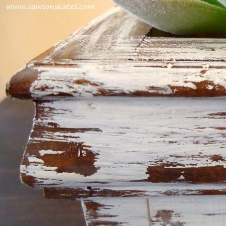 Saws On Skates, How To Get Chippy Paint Without Sanding