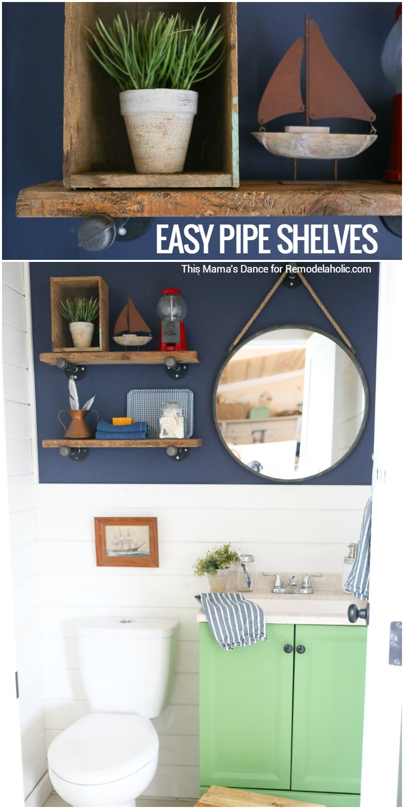 These Easy DIY Reclaimed Wood And Pipe Shelves Are The Perfect Touch Of Industrial Rustic
