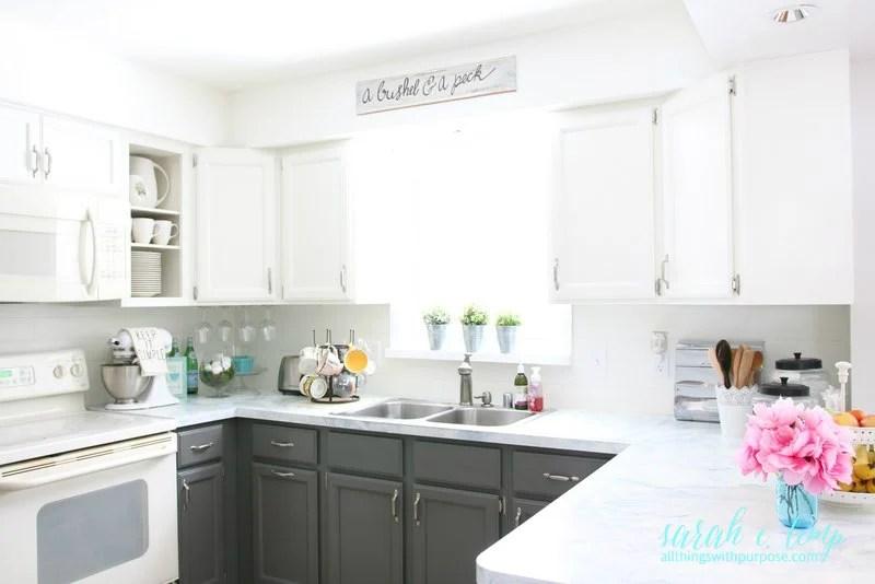 Remodelaholic Diy Budget Friendly White Kitchen Renovation With