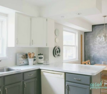 DIY Budget-Friendly White Kitchen Renovation with Shiplap Backsplash