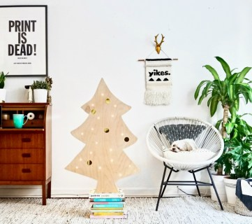Easy DIY Plywood Christmas Tree with Lights