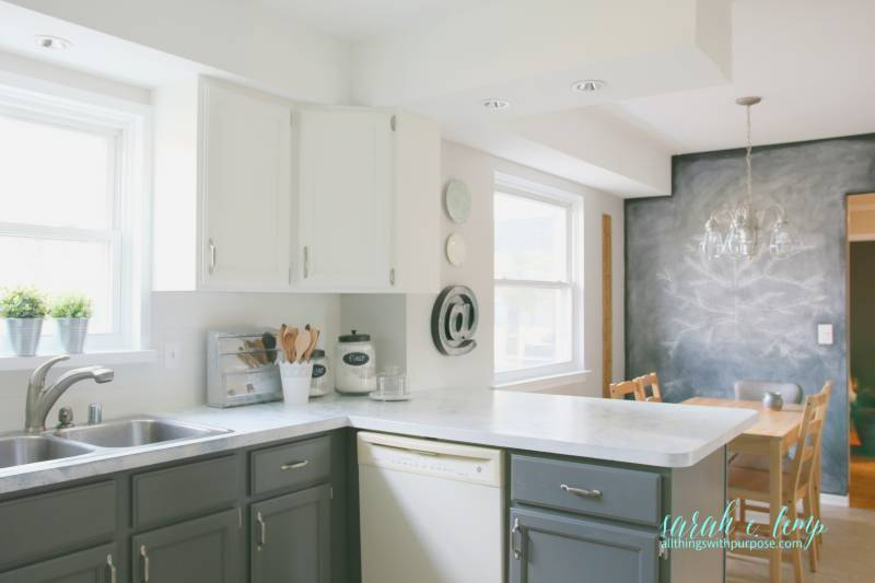 Remodelaholic   DIY Budget-Friendly White Kitchen Renovation ... on paint for master bedroom ideas, paint for white kitchen cabinets, paint for painting kitchen cabinets, paint for living room decorating ideas, paint for kitchen appliances, paint for walls ideas, paint for kitchen decorating ideas, paint for kitchen cabinets ideas, paint for kitchen sinks, paint for small kitchen,
