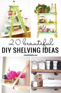 20 Beautiful DIY Shelving Ideas Remodelaholic