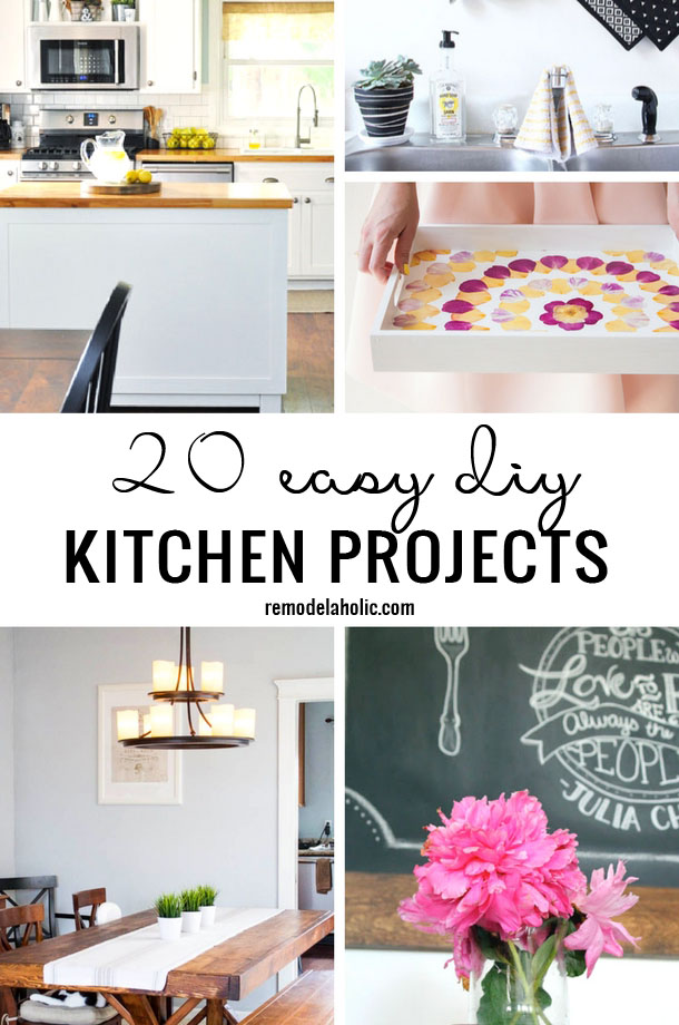 20 Easy DIY Kitchen Projects | Kitchen Ideas | DIY Kitchen | via remodelaholic.com