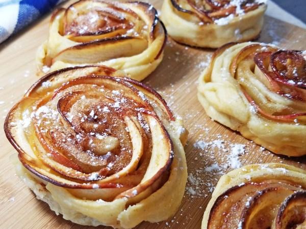 mini shaped rose apple pies 2