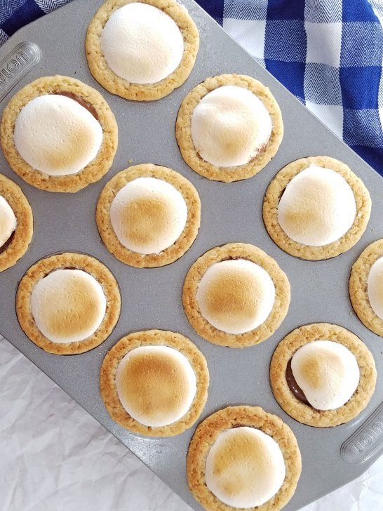 Get the same delicious taste of s'mores without the campfire and mess with this mini s'mores pies recipe from Remodelaholic.com