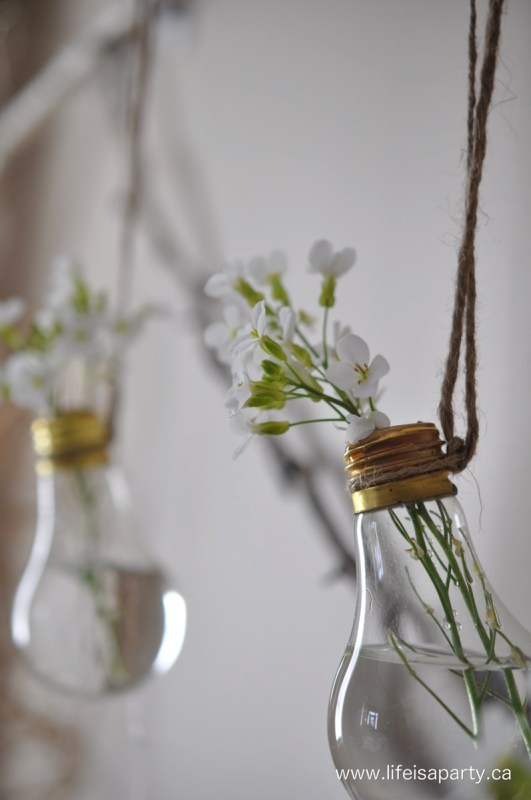 DIY Flower Vases Life Is A Party