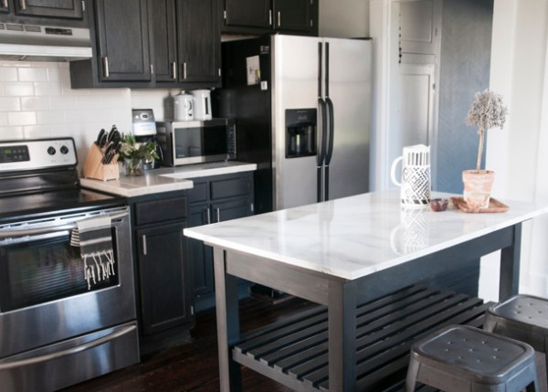 Remodelaholic Inexpensive But Amazing DIY Countertop Ideas - Kitchen countertop ideas on a budget