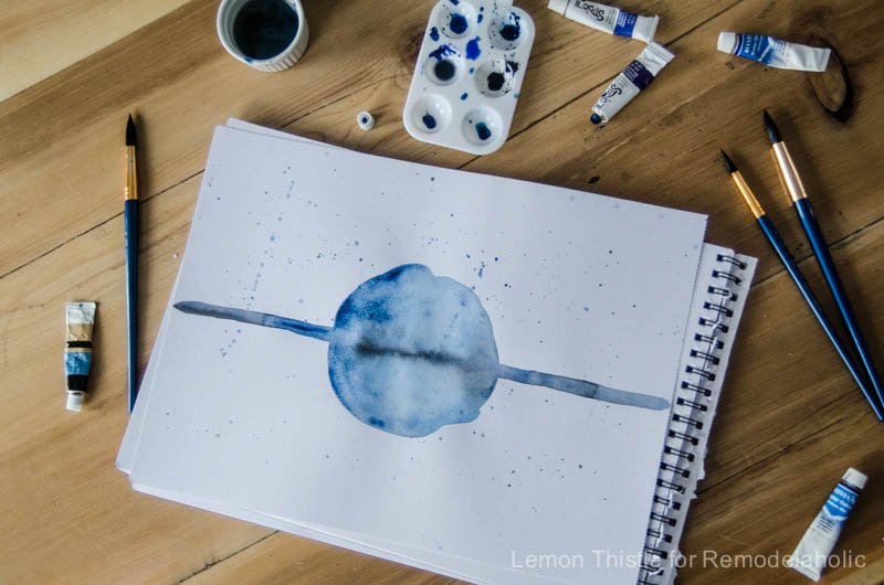 Simple Modern Watercolor Painting Tutorial- No skills required!