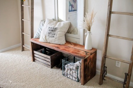 Rustic DIY Bench 17