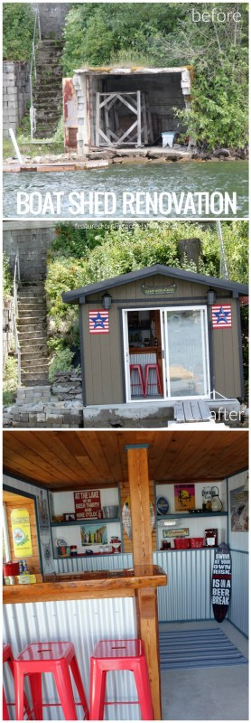 Boat Shed Renovation Before And After On @Remodelaholic