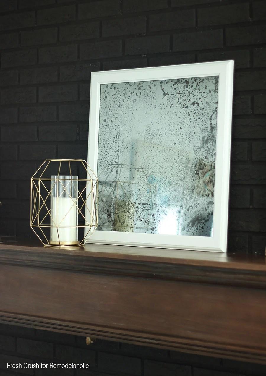 Diy Antique Mirror Black Brick1