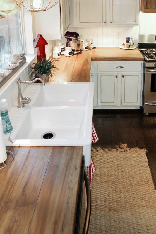 Faux Reclaimed Wood Countertops The Ragged Wren On Remodelaholic