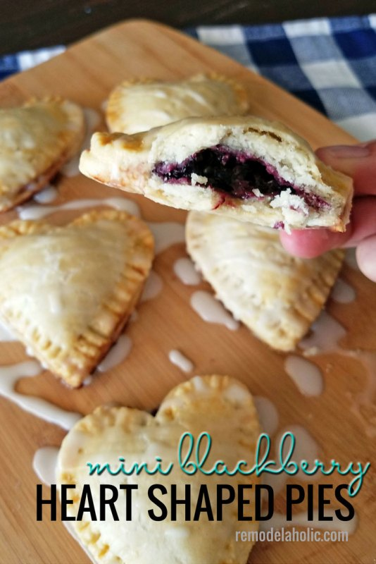 Mini Heart Shaped Blackberry Pies