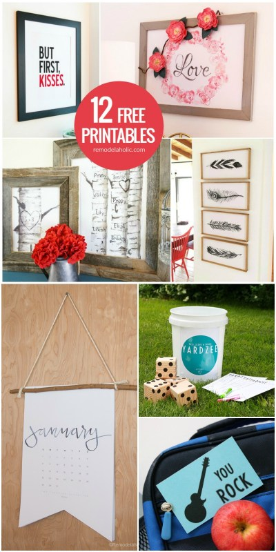 12 Free Printables For Art Prints, Gift Ideas, And More @Remodelaholic