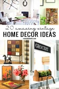 20 Amazing Vintage Home Decor Ideas Remodelaholic