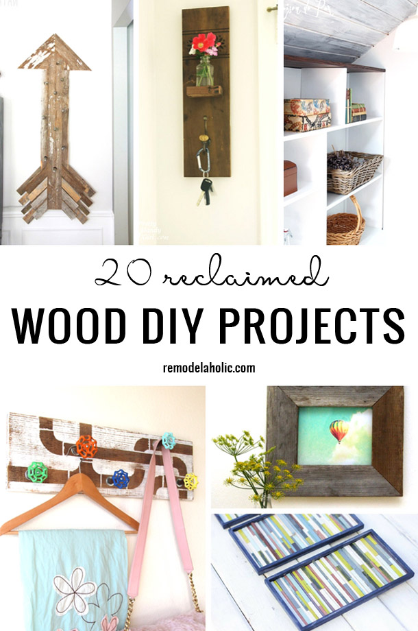 20 Reclaimed Wood DIY Projects