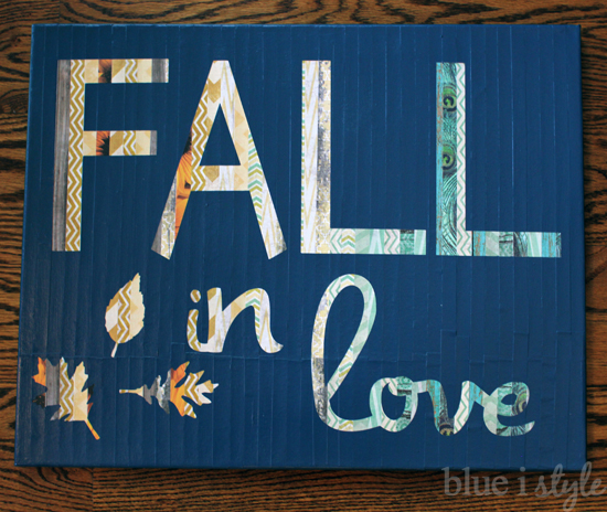 DIY Canvas Art Projects Blue I Style