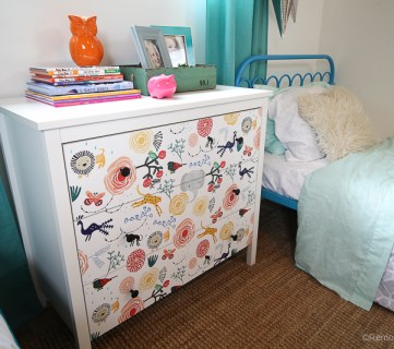 15 minute Ikea Dresser Hack – Wallpaper covered dresser