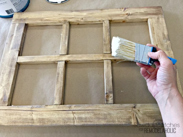 DIY Rustic Window Frame By Sawdust2Stitches For Remodelaholic.com 3