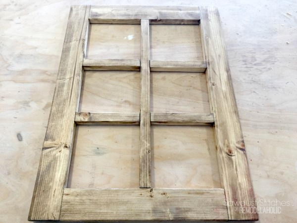 DIY Rustic Window Frame By Sawdust2Stitches For Remodelaholic.com