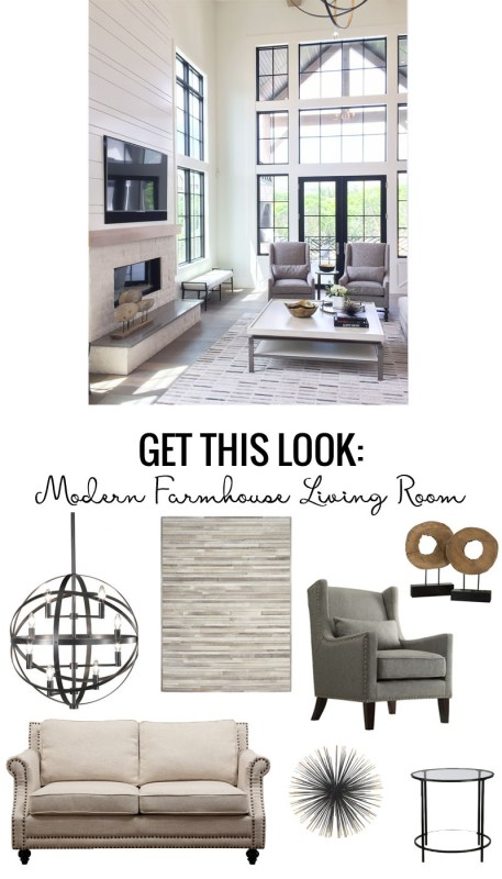 Get This Look Modern Farmhouse Living Room