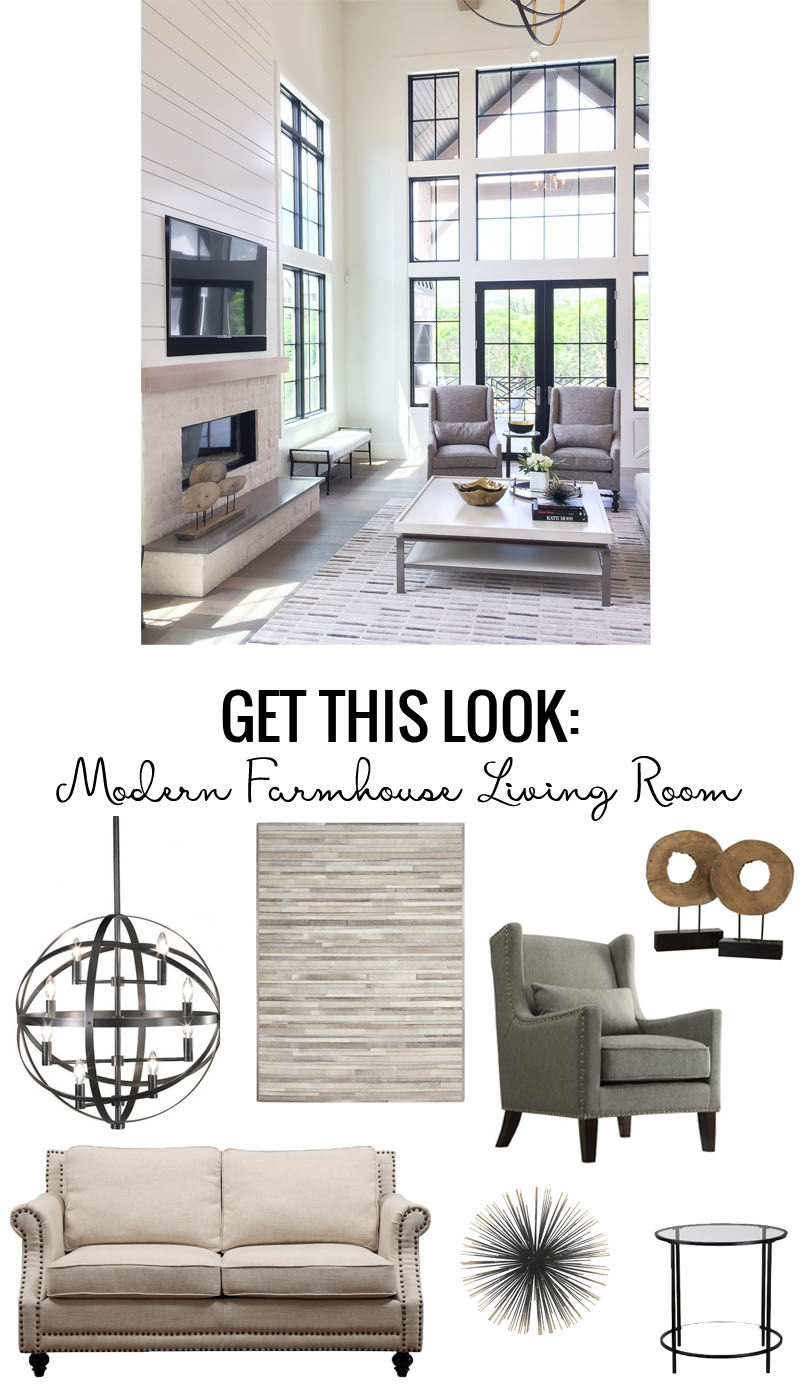 Remodelaholic Get This Look Modern Farmhouse Living Room