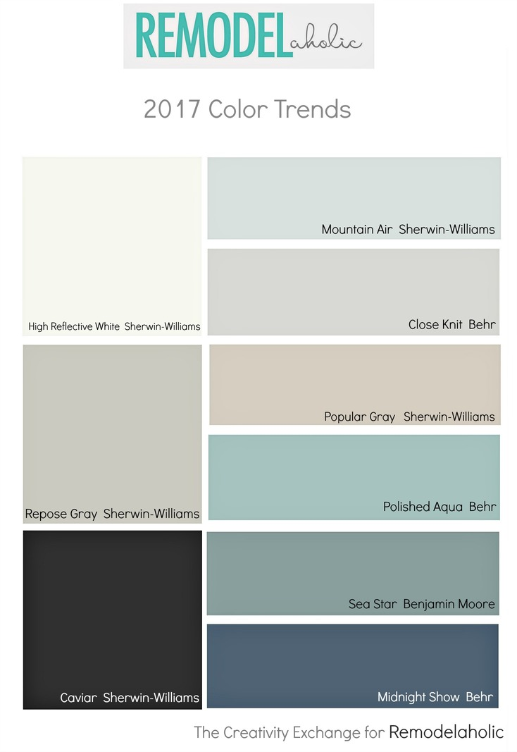 Remodelaholic paint color trends for 2017 for Most popular living room paint colors 2017