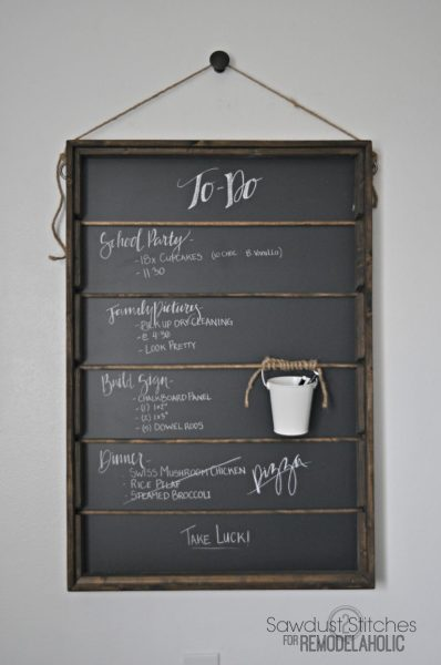Rustic Wall Chalkboard Remodelaholic.com 768x1157
